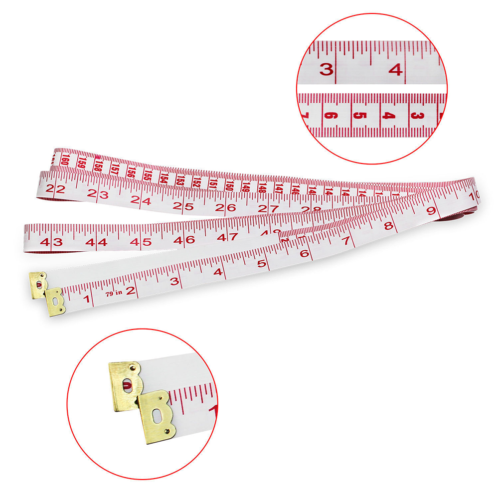 "UK Body Measuring Sewing Cloth Tailor Tape Measure Tool Soft Flat Ruler 79""/200c"