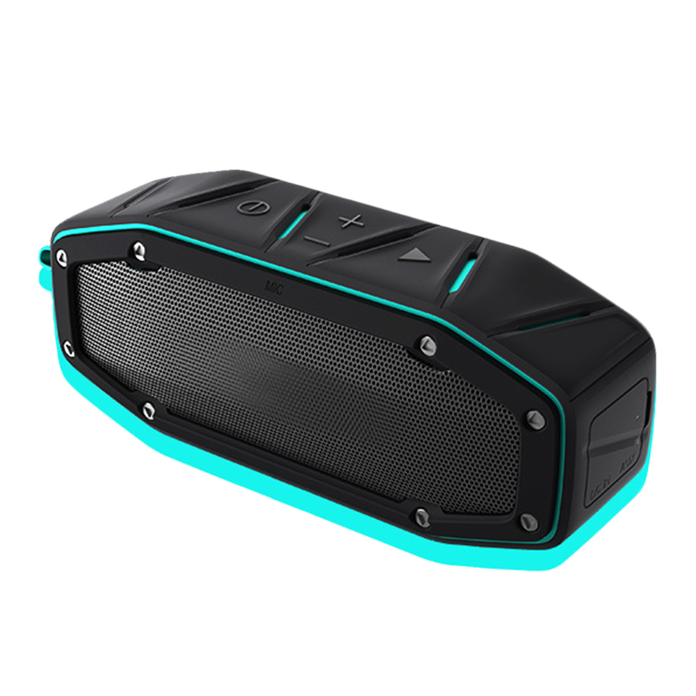 Rugged Portable Waterproof Bluetooth Speaker w Bumping Bass Wireless Outdoor