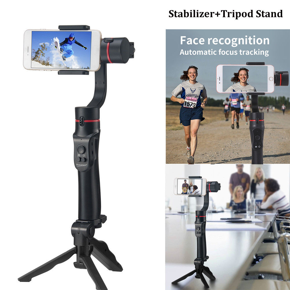 New 3-Axis Handheld Mobile Gimbal Stabilizer for Smartphone iPhone+Tripod Stand