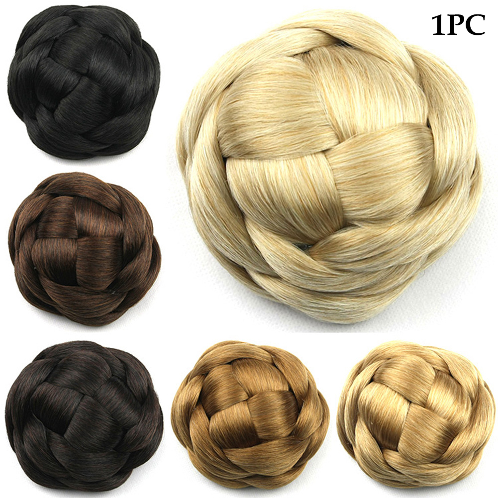 Synthetic-Easy-to-use-Wedding-Extensions-Hair-Chignon-Bun-Braided-Elastic-Smooth thumbnail 12