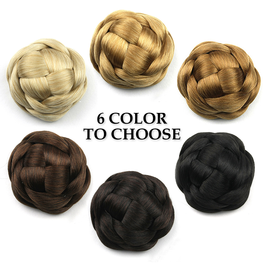 Synthetic-Easy-to-use-Wedding-Extensions-Hair-Chignon-Bun-Braided-Elastic-Smooth