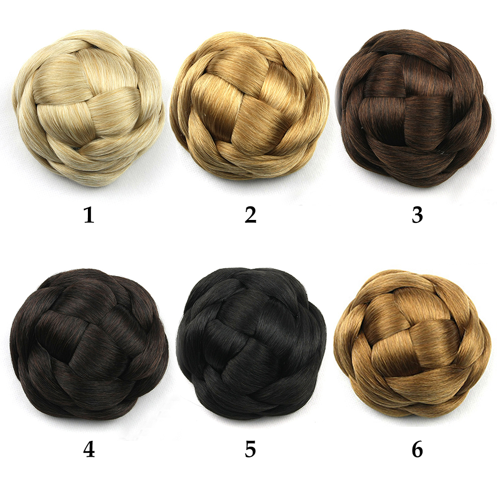 Synthetic-Easy-to-use-Wedding-Extensions-Hair-Chignon-Bun-Braided-Elastic-Smooth thumbnail 9