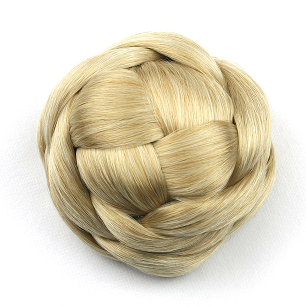 Synthetic-Easy-to-use-Wedding-Extensions-Hair-Chignon-Bun-Braided-Elastic-Smooth thumbnail 5