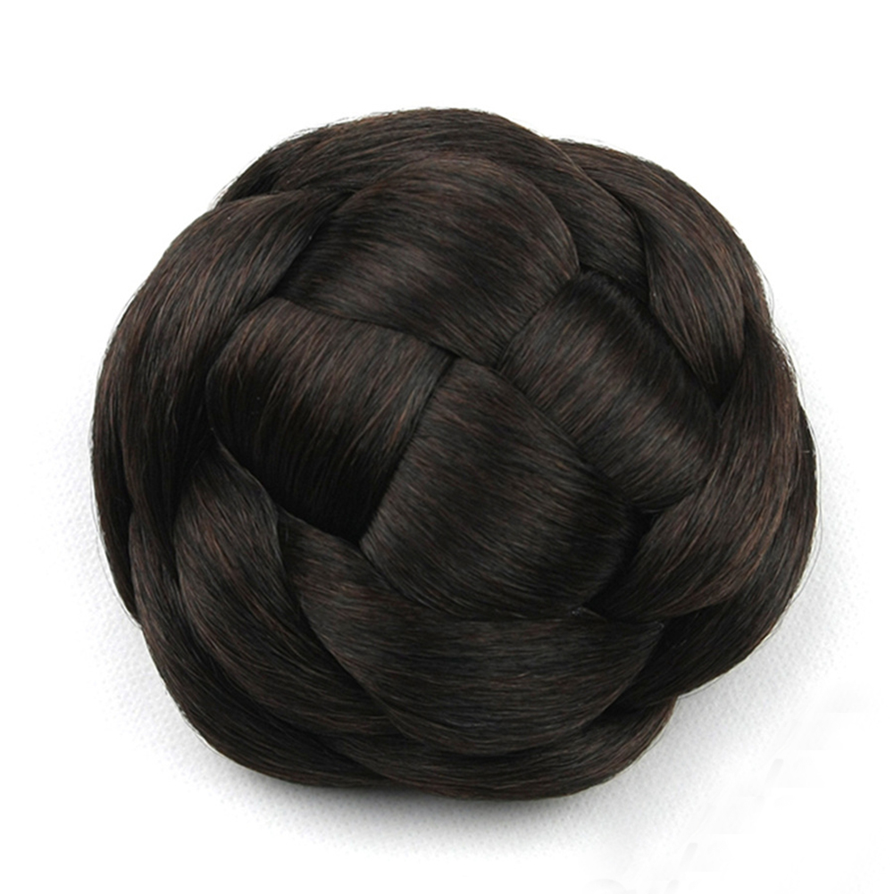 Synthetic-Easy-to-use-Wedding-Extensions-Hair-Chignon-Bun-Braided-Elastic-Smooth thumbnail 2
