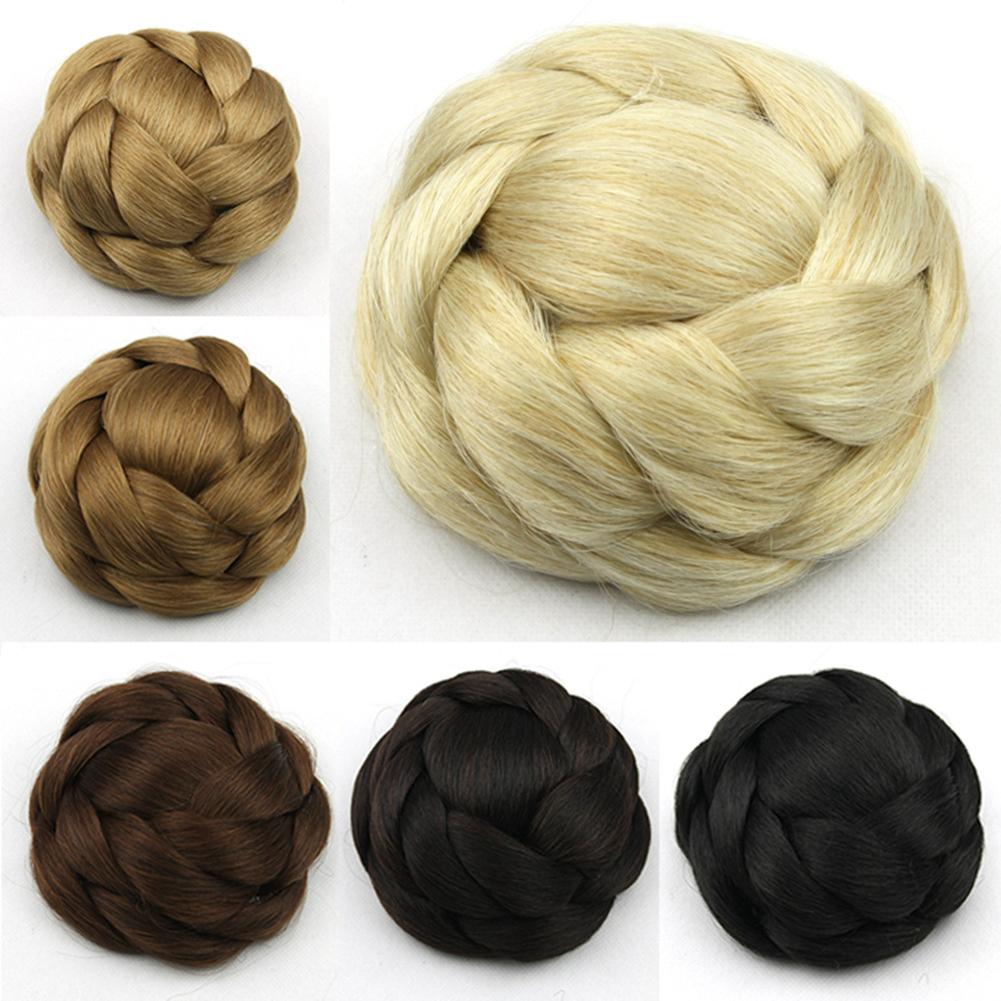 Clip-Breathable-Women-Wig-Braiding-Comfortable-Wear-Hair-Bun-Natural-Synthetic thumbnail 7