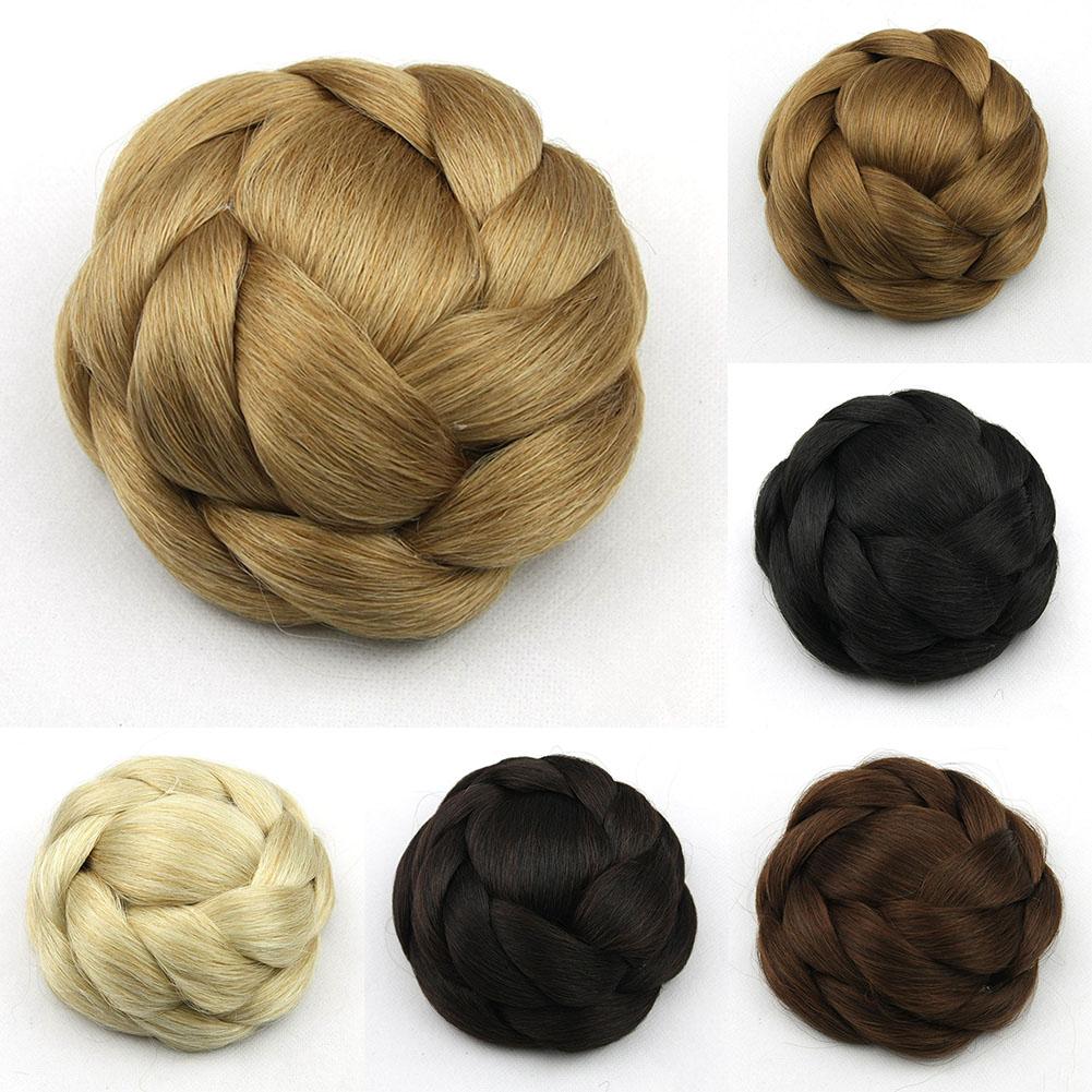Clip-Breathable-Women-Wig-Braiding-Comfortable-Wear-Hair-Bun-Natural-Synthetic thumbnail 5
