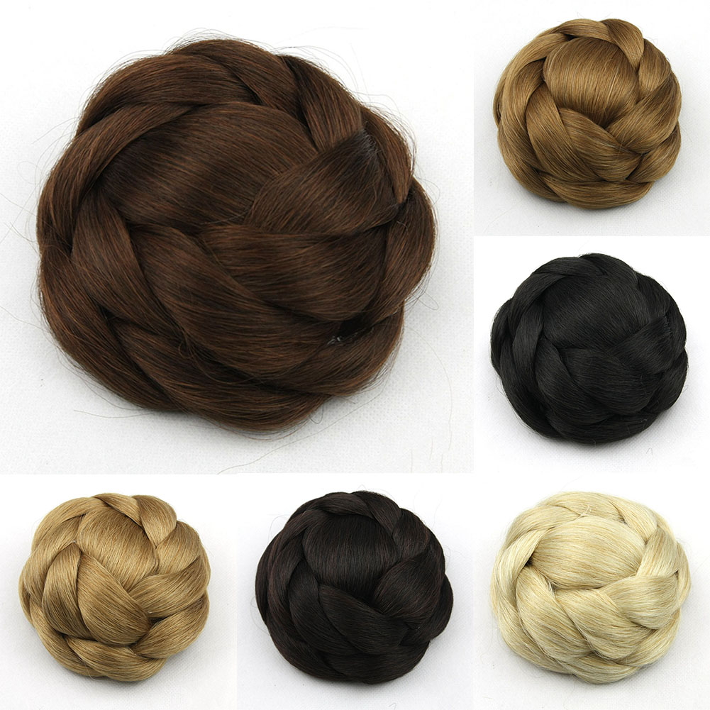Clip-Breathable-Women-Wig-Braiding-Comfortable-Wear-Hair-Bun-Natural-Synthetic