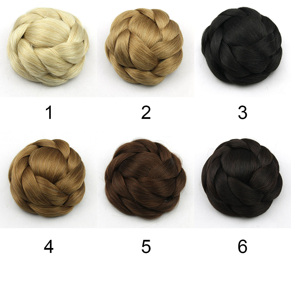 Clip-Breathable-Women-Wig-Braiding-Comfortable-Wear-Hair-Bun-Natural-Synthetic thumbnail 6