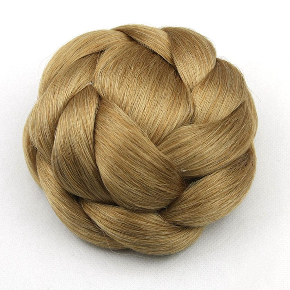 Clip-Breathable-Women-Wig-Braiding-Comfortable-Wear-Hair-Bun-Natural-Synthetic thumbnail 2