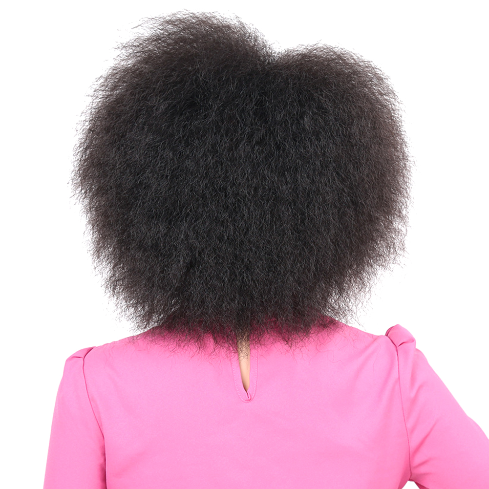 Kinky-Curly-Natural-Fluffy-Women-Wig-Synthetic-Short-Hair-For-African-Easy-Clean thumbnail 3
