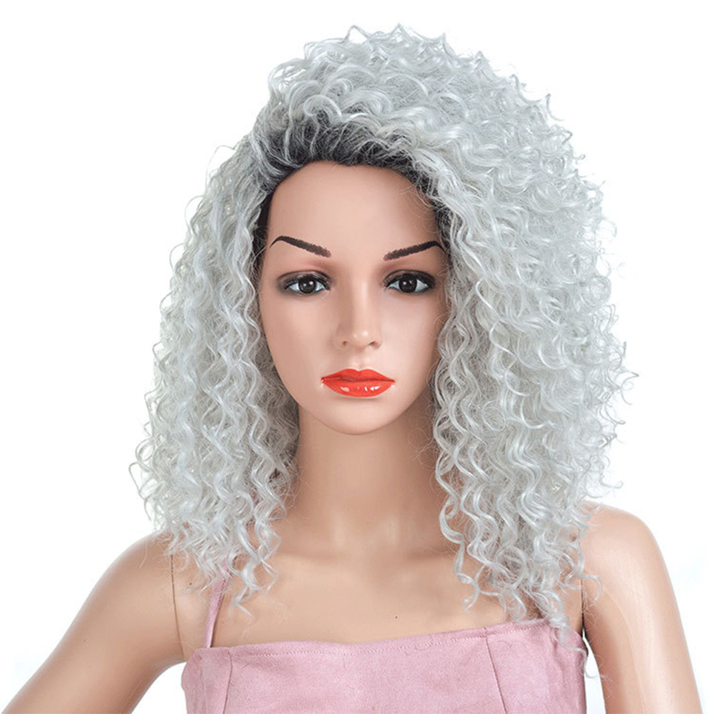 Curly-Hair-Fluffy-Fashion-Cosplay-Synthetic-Fiber-Americans-Natural-Women-Wig thumbnail 2