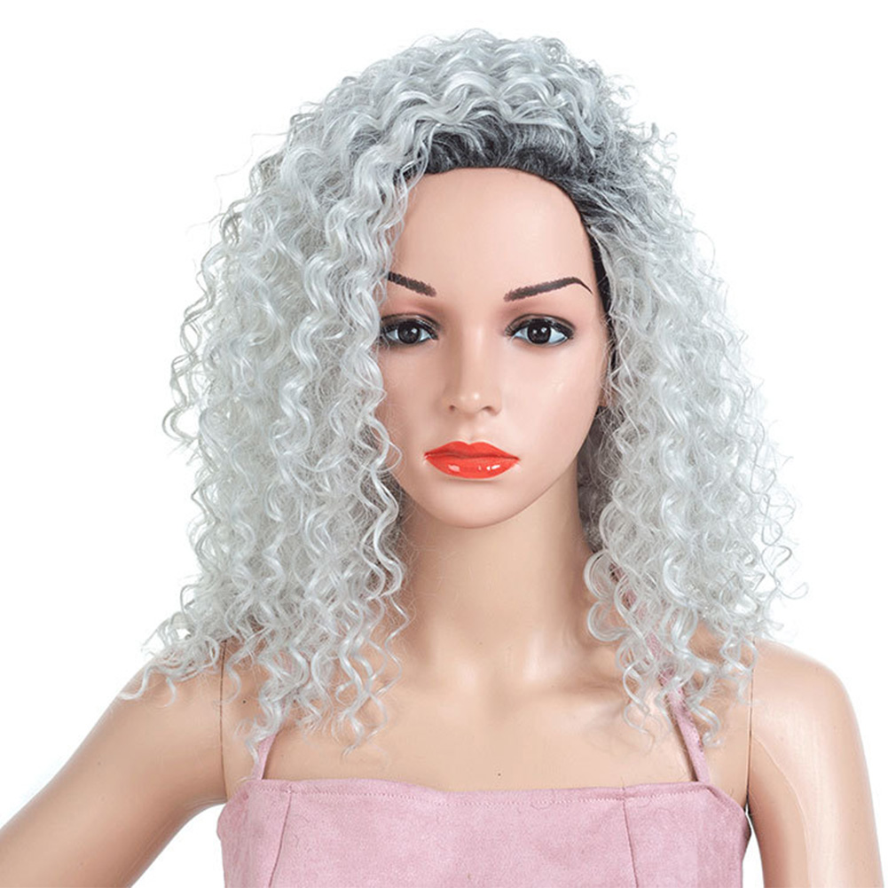 Curly-Hair-Fluffy-Fashion-Cosplay-Synthetic-Fiber-Americans-Natural-Women-Wig thumbnail 3