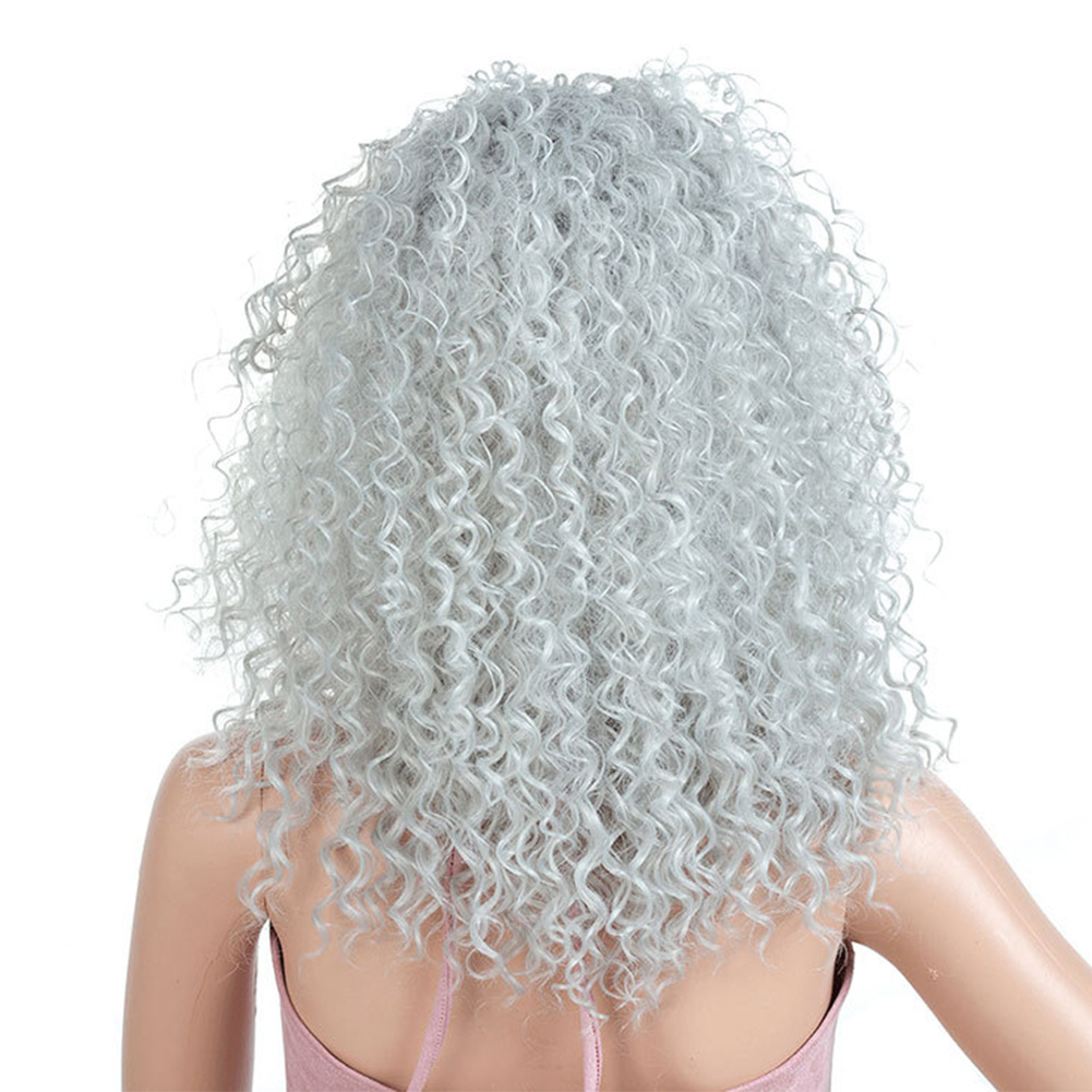 Curly-Hair-Fluffy-Fashion-Cosplay-Synthetic-Fiber-Americans-Natural-Women-Wig thumbnail 6