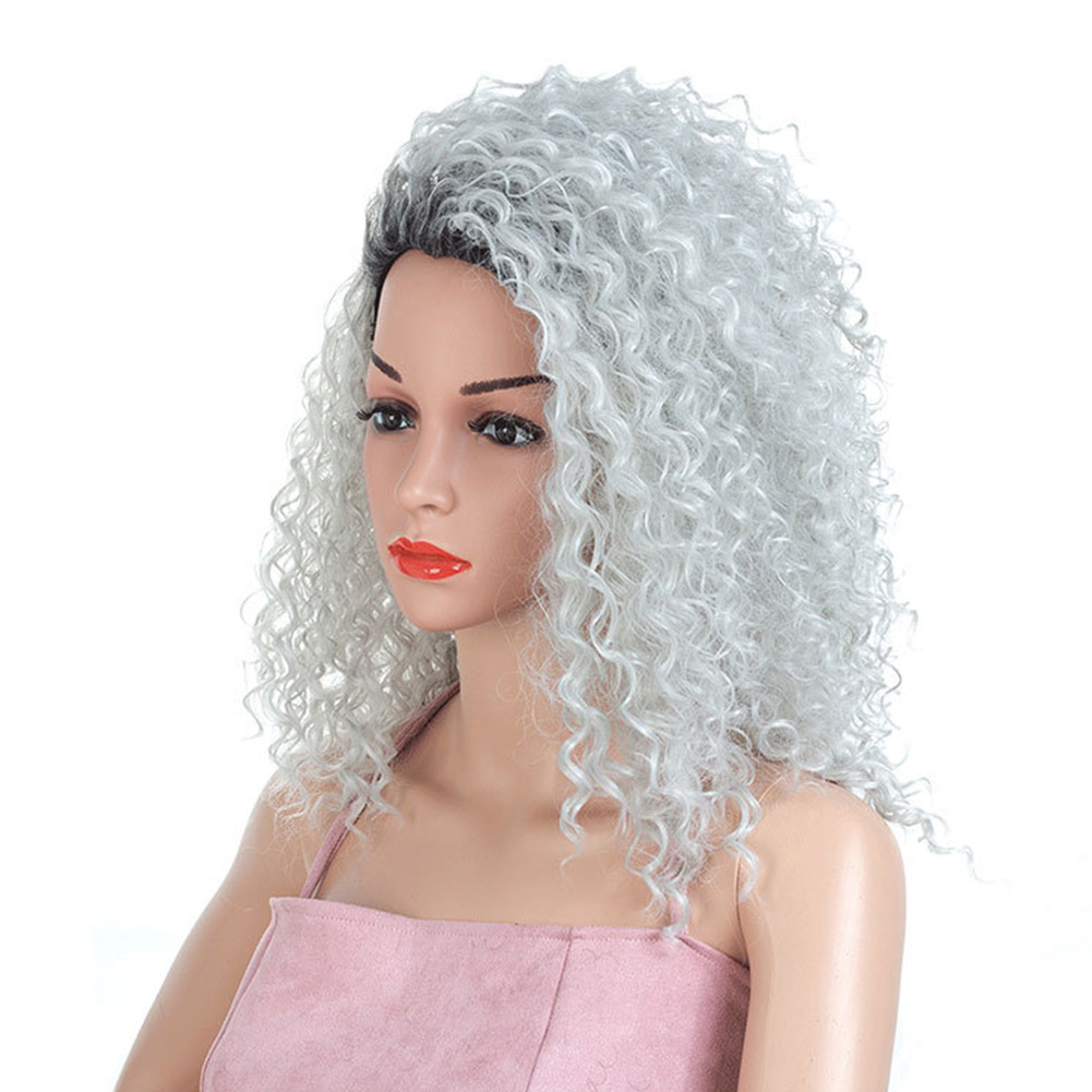 Curly-Hair-Fluffy-Fashion-Cosplay-Synthetic-Fiber-Americans-Natural-Women-Wig thumbnail 5