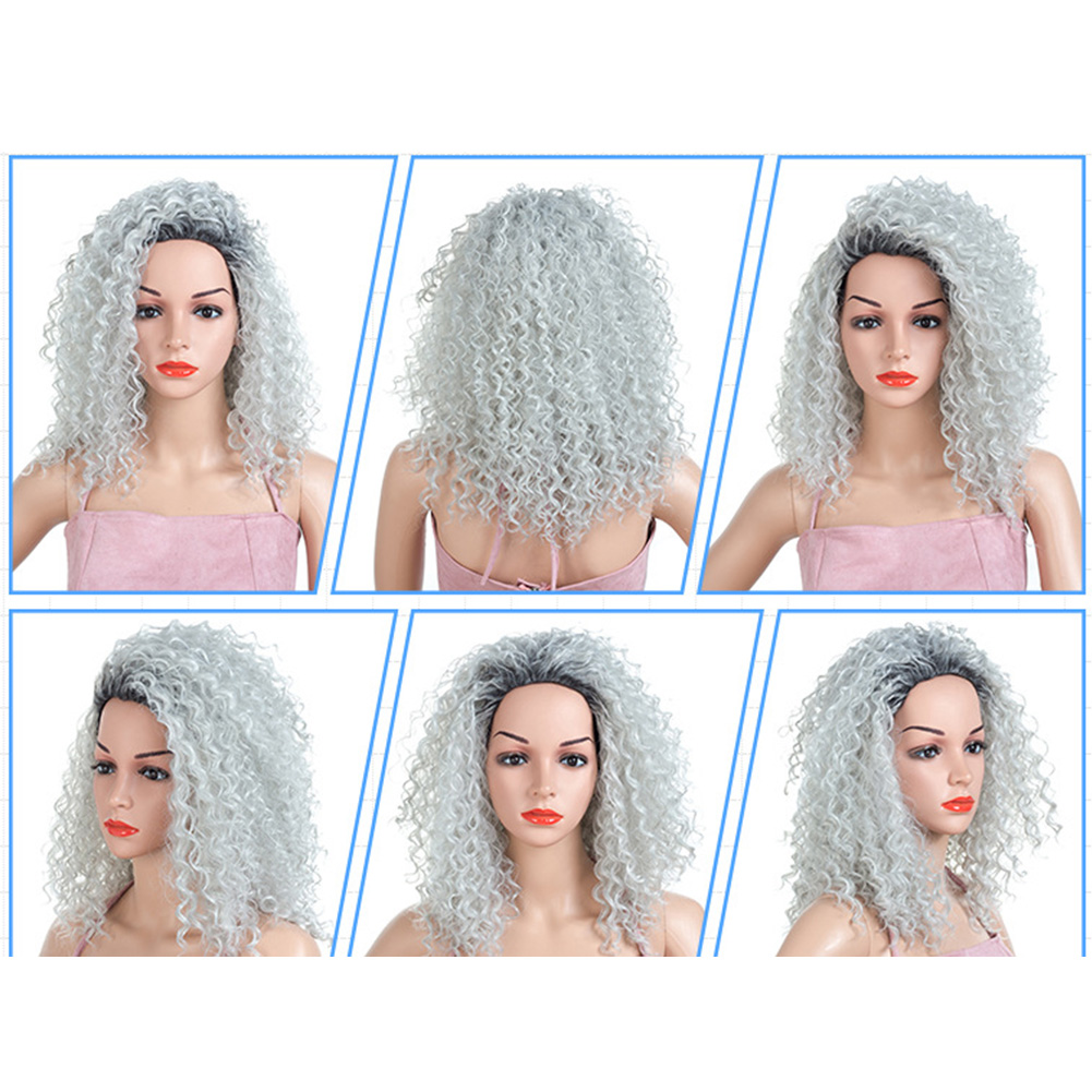 Curly-Hair-Fluffy-Fashion-Cosplay-Synthetic-Fiber-Americans-Natural-Women-Wig thumbnail 4