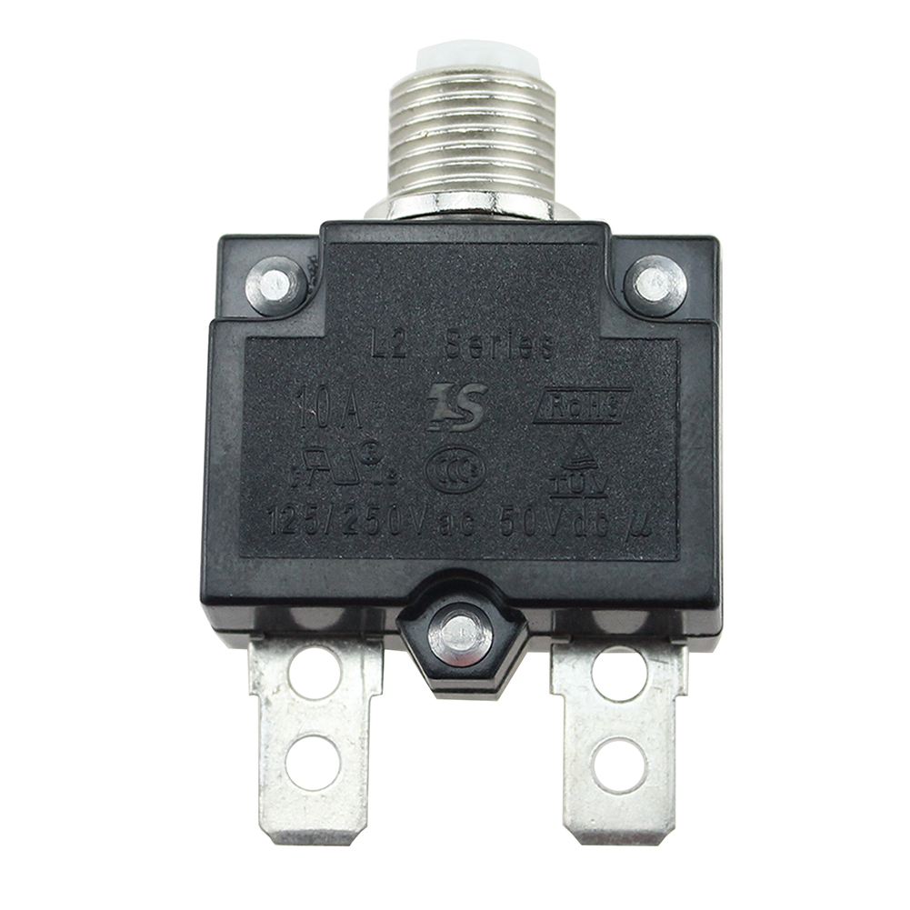 12-24V-Push-Button-Resettable-Thermal-Circuit-Breaker-Panel-Mount-5-30AMP-Rating