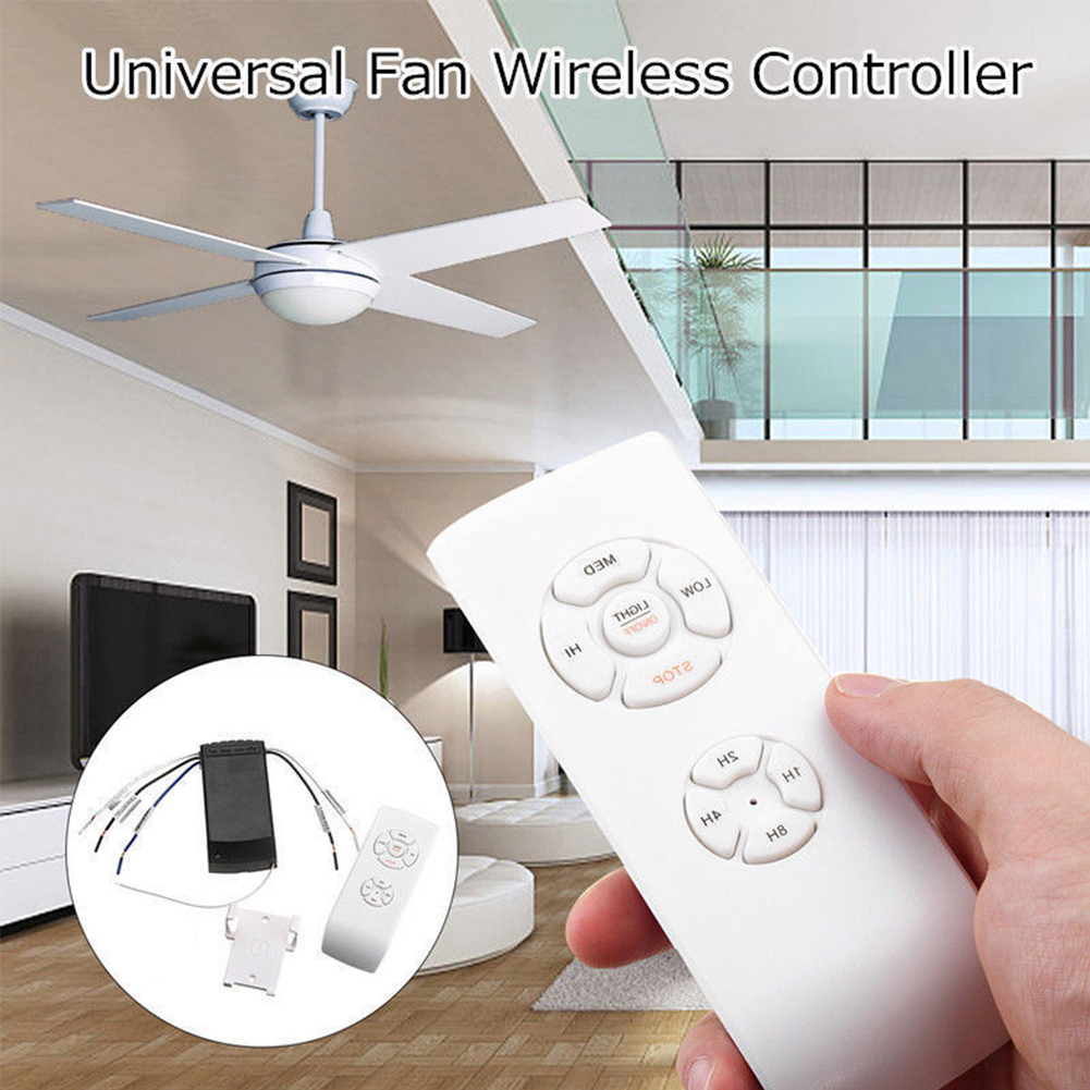 Universal-Ceiling-Fan-Lamp-Remote-Control-Kit-Timing-Wireless-Control-110V-220V thumbnail 3