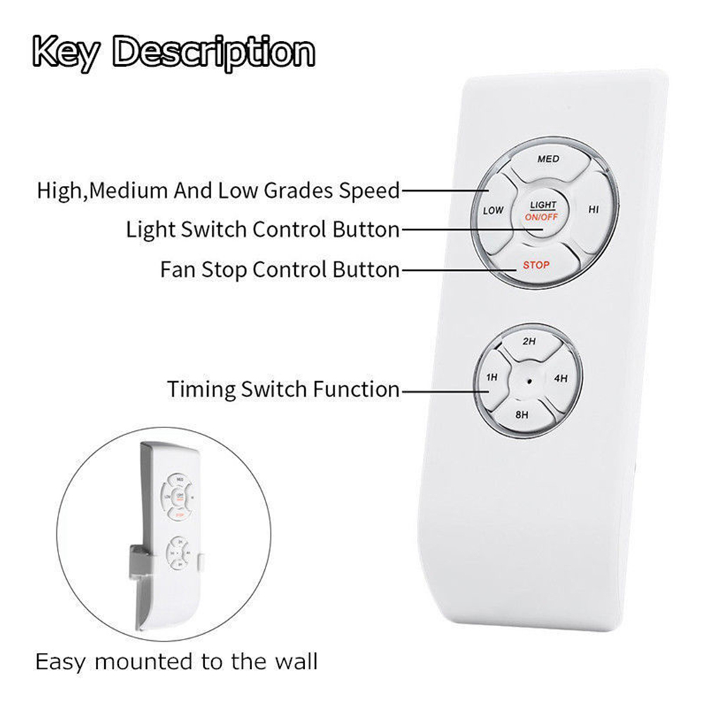 Universal-Ceiling-Fan-Lamp-Remote-Control-Kit-Timing-Wireless-Control-110V-220V thumbnail 5