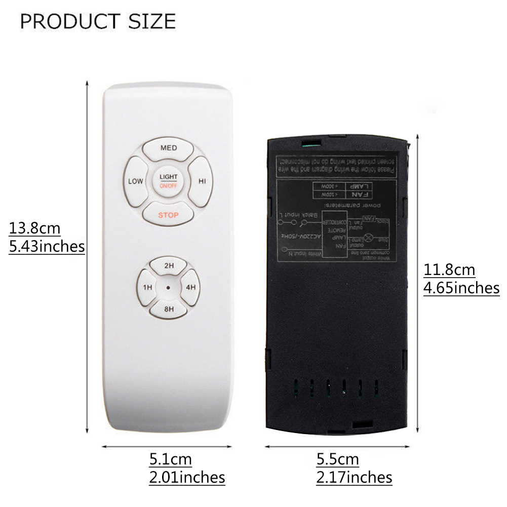 Universal-Ceiling-Fan-Lamp-Remote-Control-Kit-Timing-Wireless-Control-110V-220V thumbnail 9