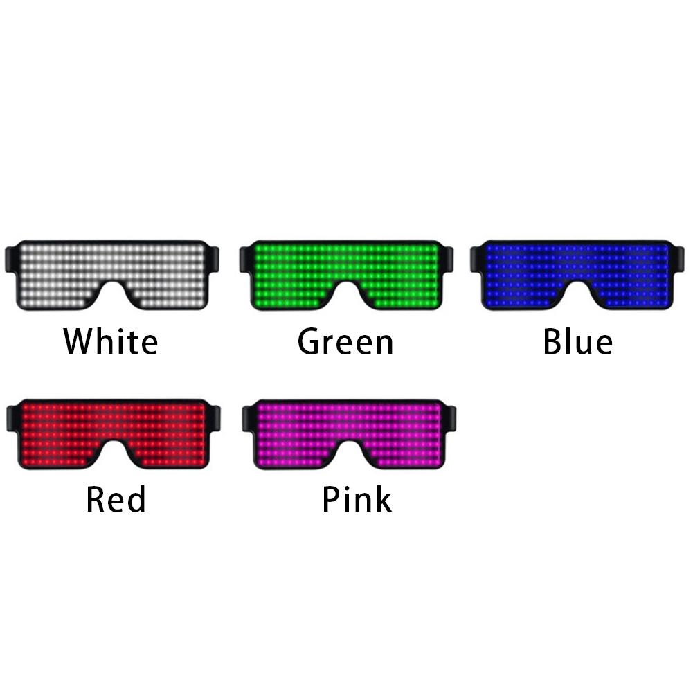 Glasses-Multi-Purpose-Nightclub-Led-Eyewear-Display-Screen-Glow-Party-Flashing thumbnail 4