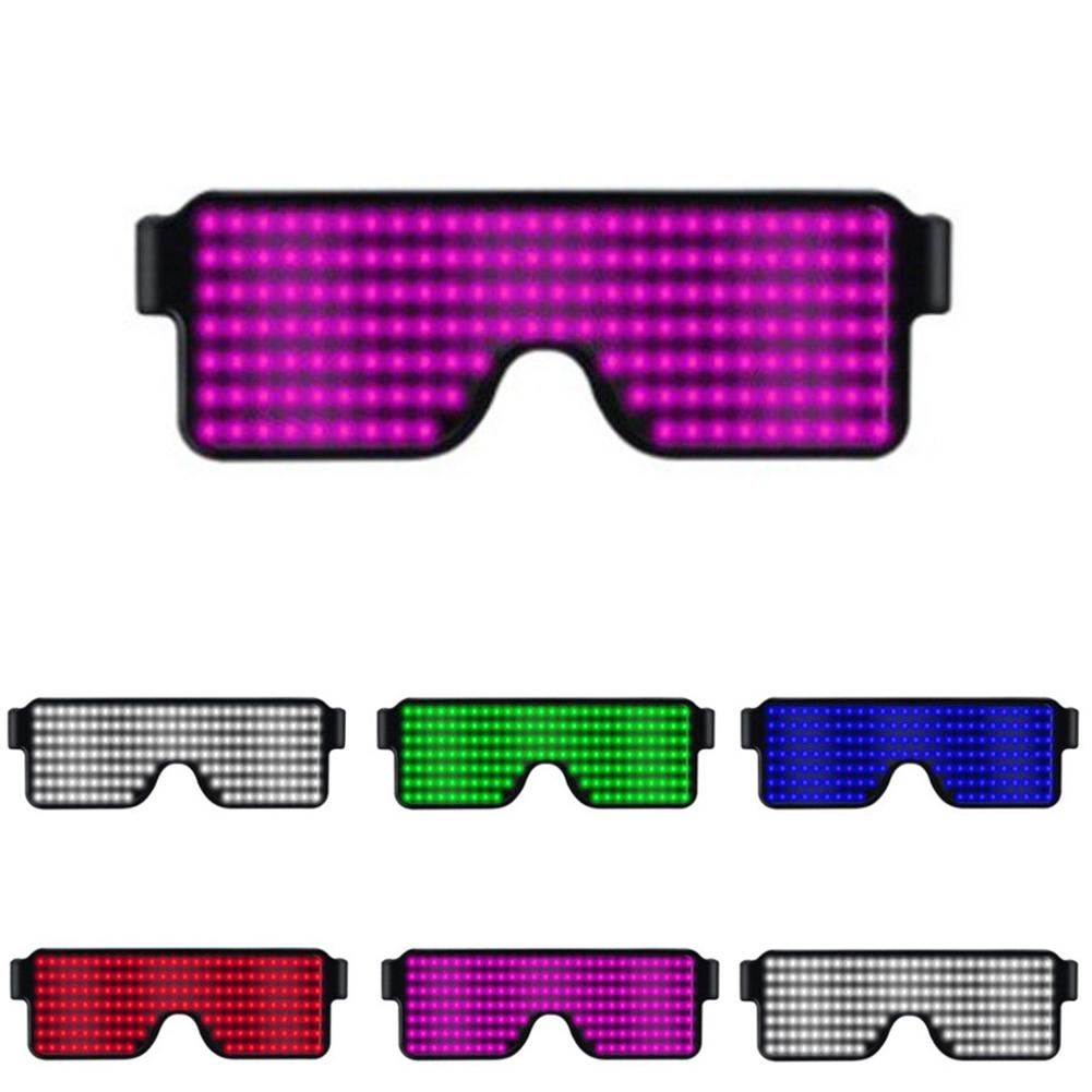 Glasses-Multi-Purpose-Nightclub-Led-Eyewear-Display-Screen-Glow-Party-Flashing thumbnail 8