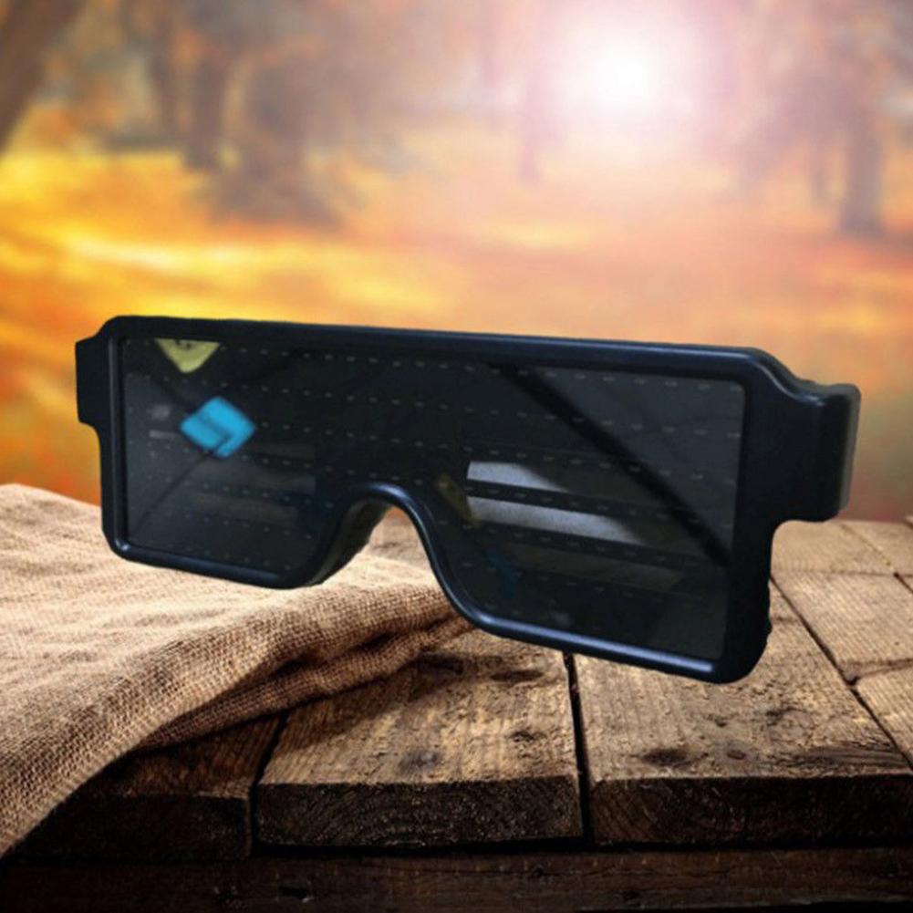 Glasses-Multi-Purpose-Nightclub-Led-Eyewear-Display-Screen-Glow-Party-Flashing thumbnail 5