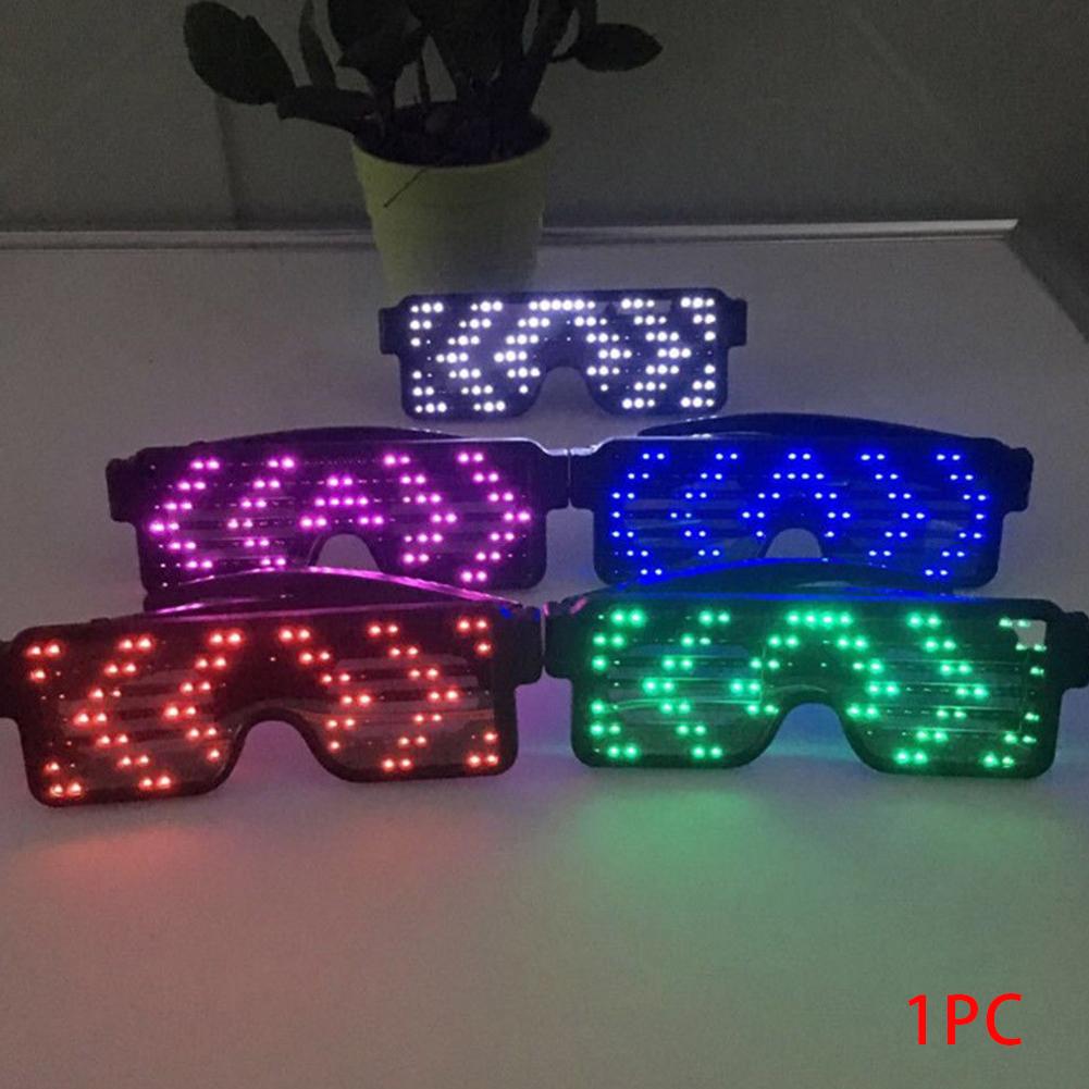 Glasses-Multi-Purpose-Nightclub-Led-Eyewear-Display-Screen-Glow-Party-Flashing thumbnail 11