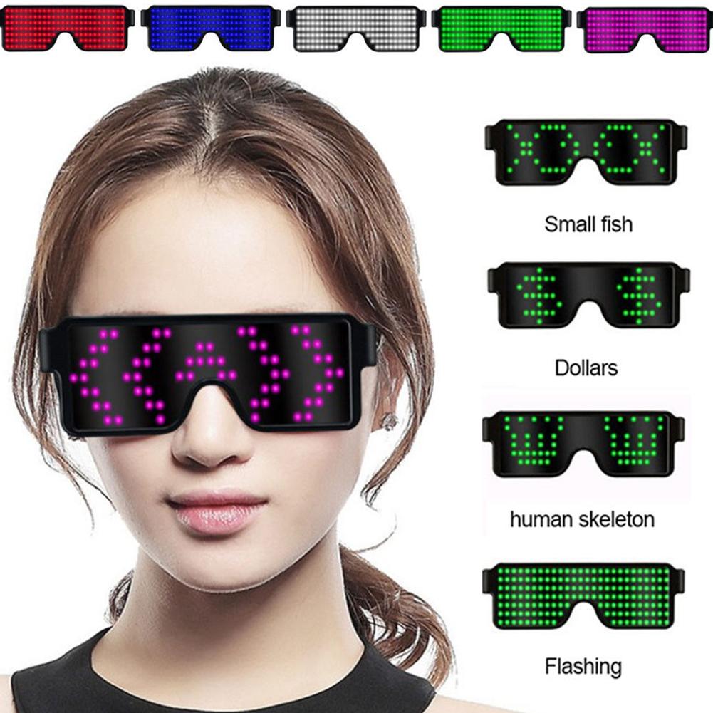 Glasses-Multi-Purpose-Nightclub-Led-Eyewear-Display-Screen-Glow-Party-Flashing thumbnail 6