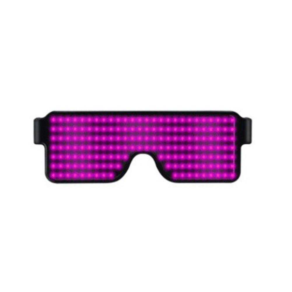 Glasses-Multi-Purpose-Nightclub-Led-Eyewear-Display-Screen-Glow-Party-Flashing thumbnail 9
