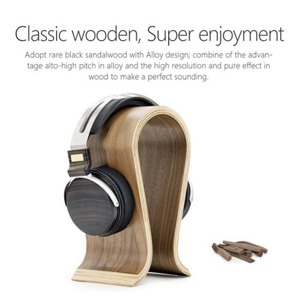 DJ-Portable-Office-Desktop-Wooden-Headphone-Stand-U-Shape-Universal-for-Sony thumbnail 12