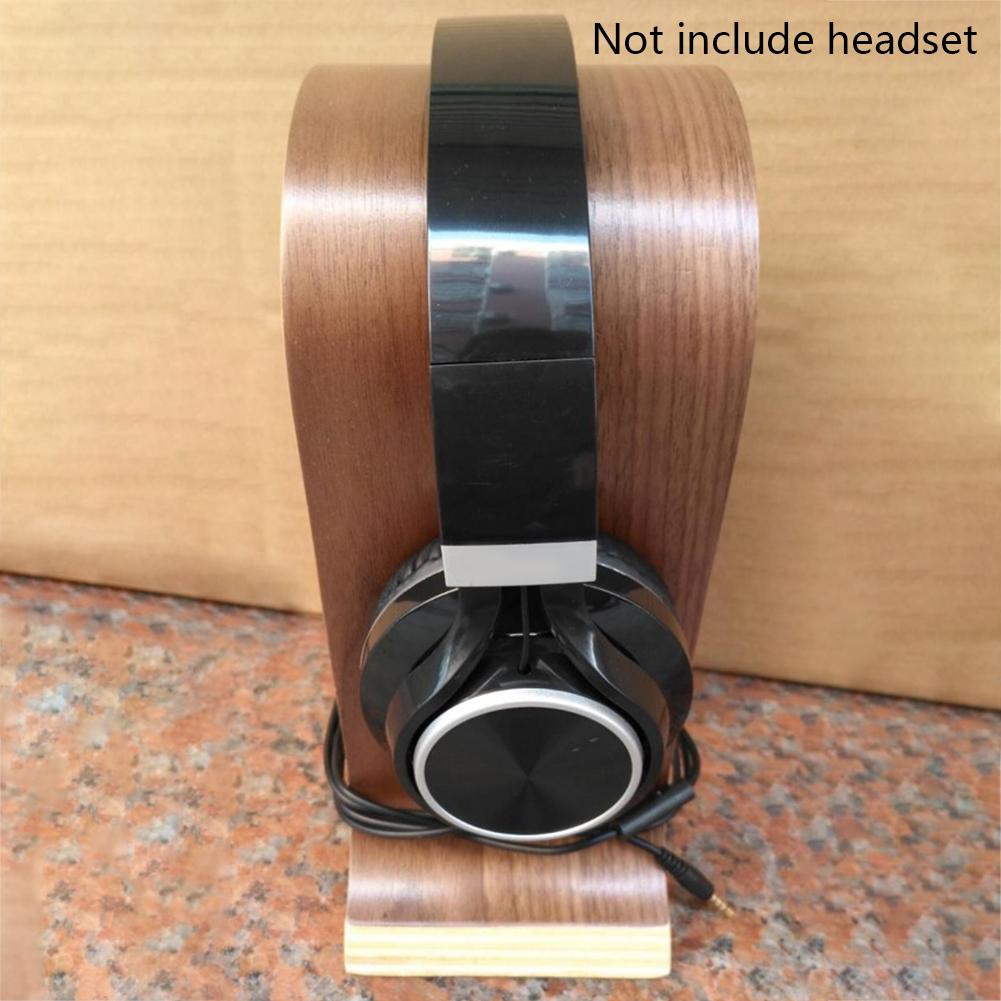 DJ-Portable-Office-Desktop-Wooden-Headphone-Stand-U-Shape-Universal-for-Sony thumbnail 2