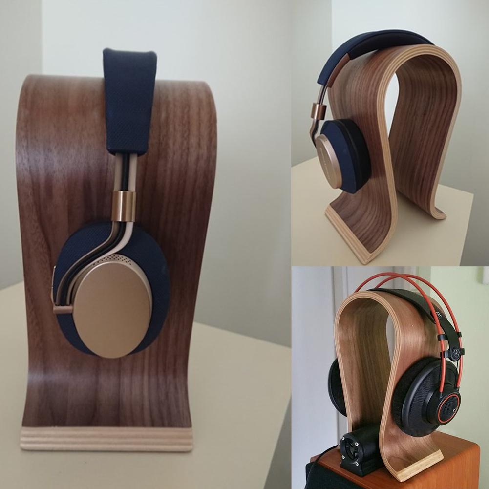 DJ-Portable-Office-Desktop-Wooden-Headphone-Stand-U-Shape-Universal-for-Sony thumbnail 9