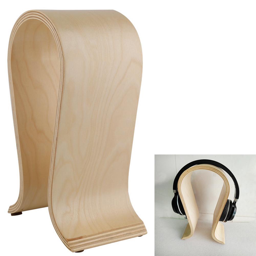 DJ-Portable-Office-Desktop-Wooden-Headphone-Stand-U-Shape-Universal-for-Sony thumbnail 3