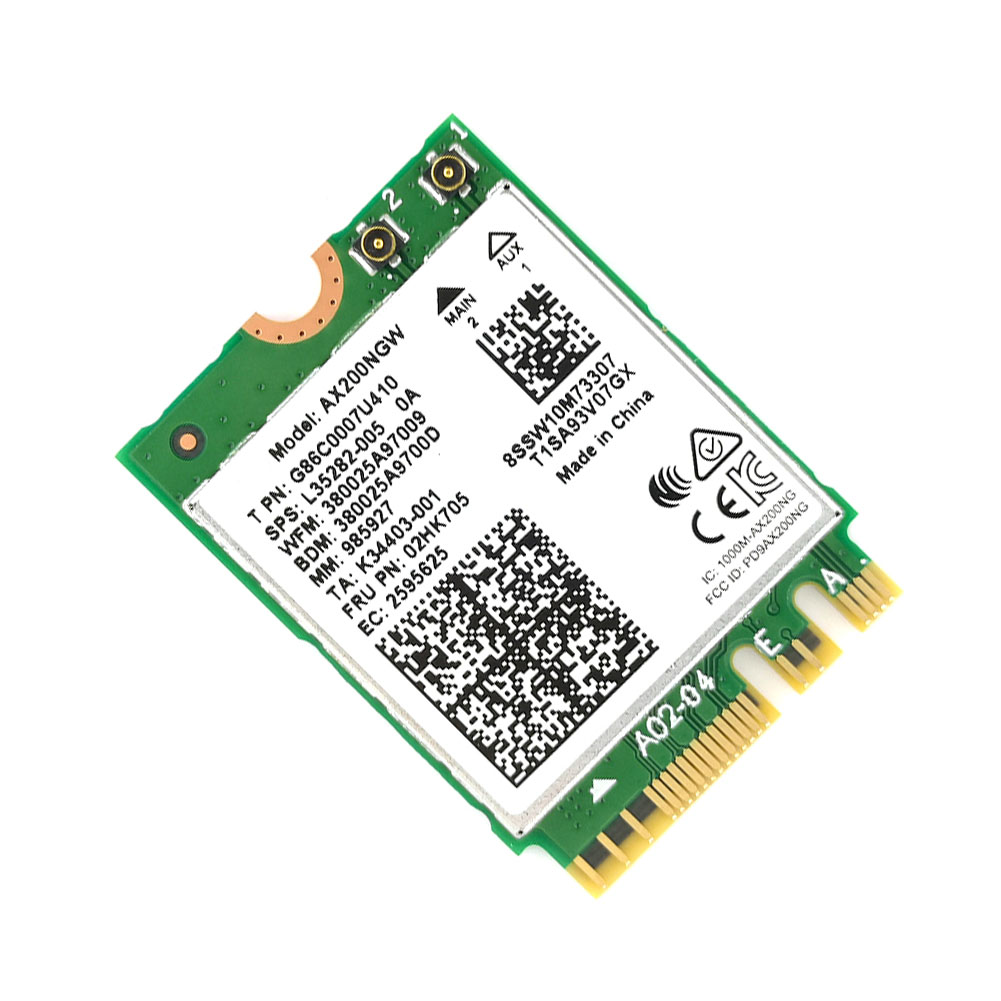 Dual-Band-Wireless-For-Intel-AX200-NGFF-Wifi-Bluetooth-5-0-Card-AX200NGW thumbnail 2