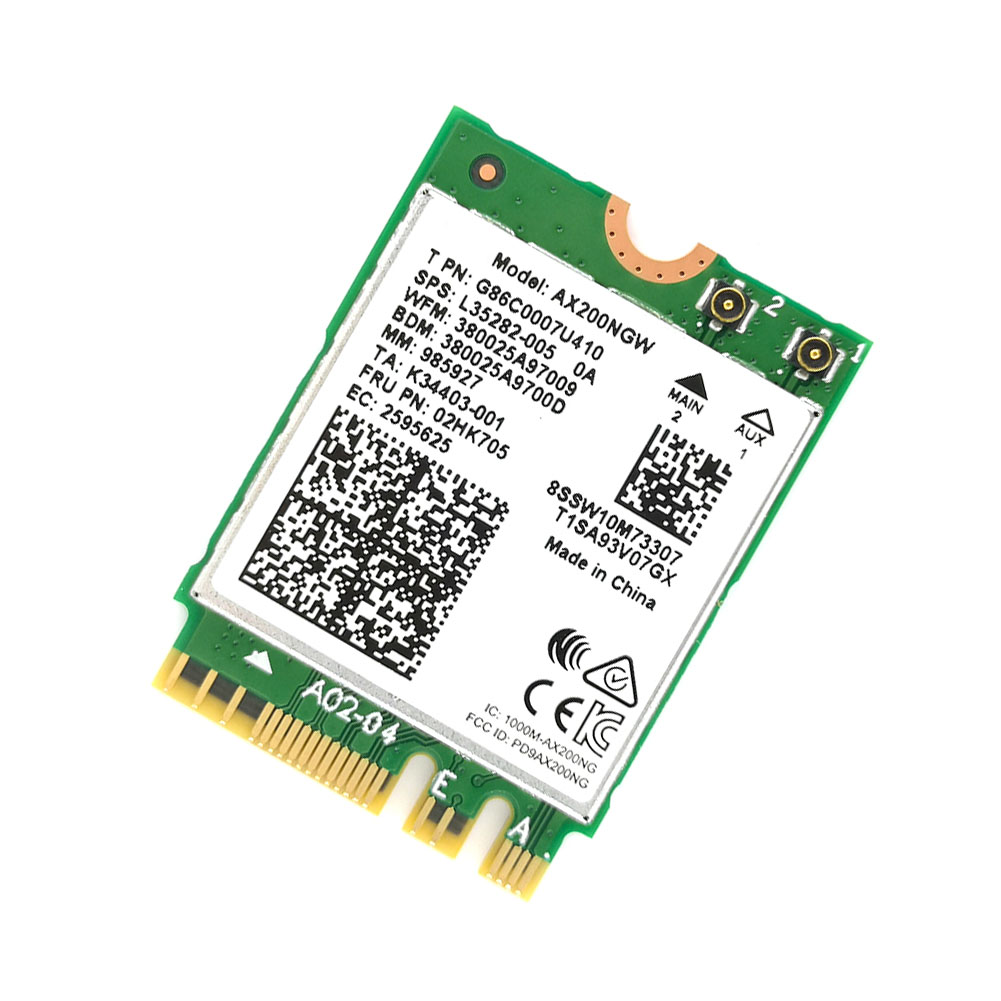 Dual-Band-Wireless-For-Intel-AX200-NGFF-Wifi-Bluetooth-5-0-Card-AX200NGW thumbnail 3