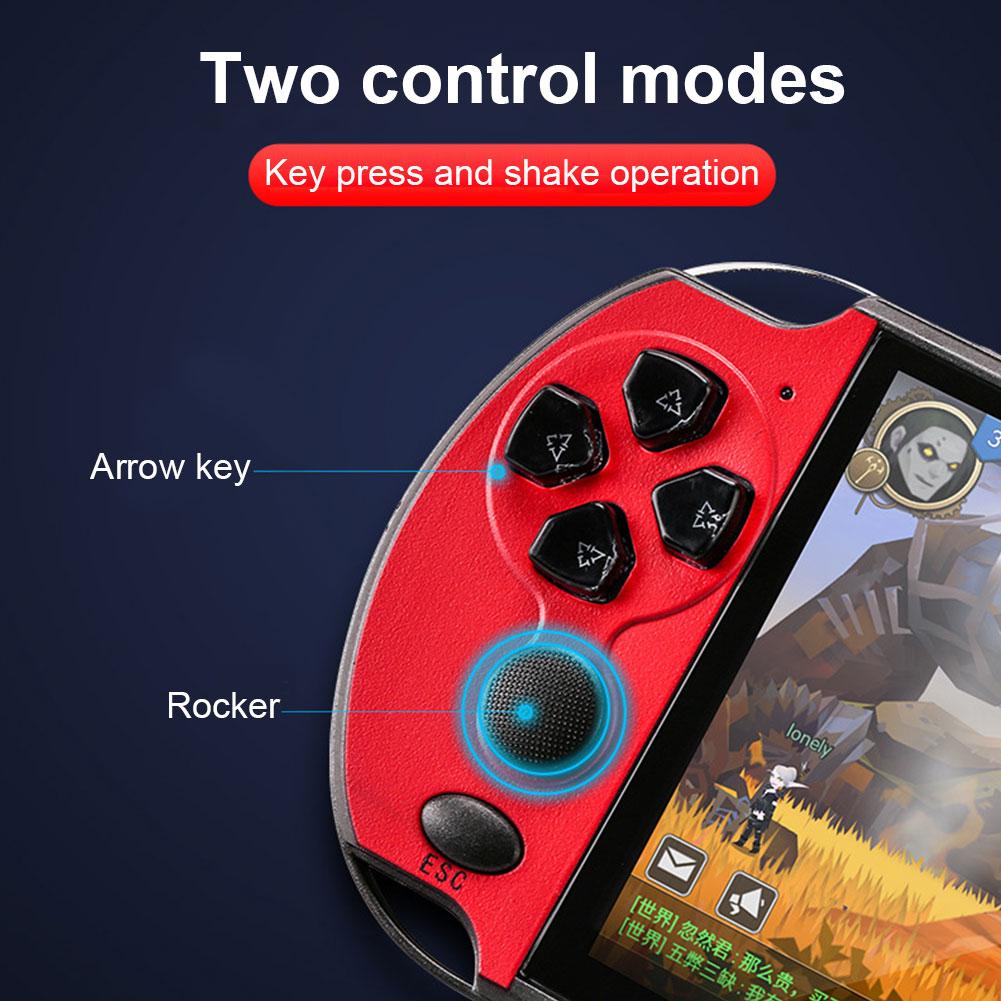 "8Bit-128 Bit 5"" X7 Plus Double Rocker Handheld Game Console Built-in 10000 Games 4"