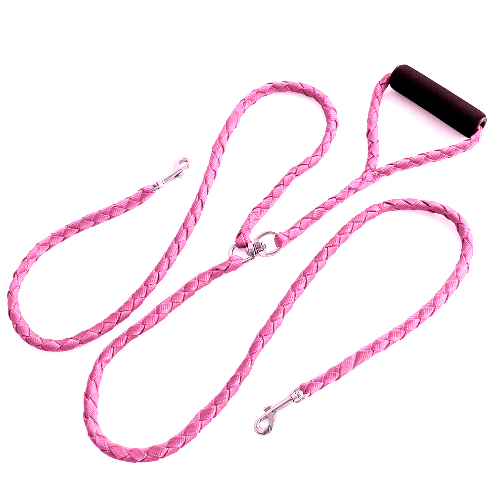 Double-Dog-Coupler-Twin-Lead-2-Way-For-Two-Pet-Dogs-Walking-Leash-Safety-Chain