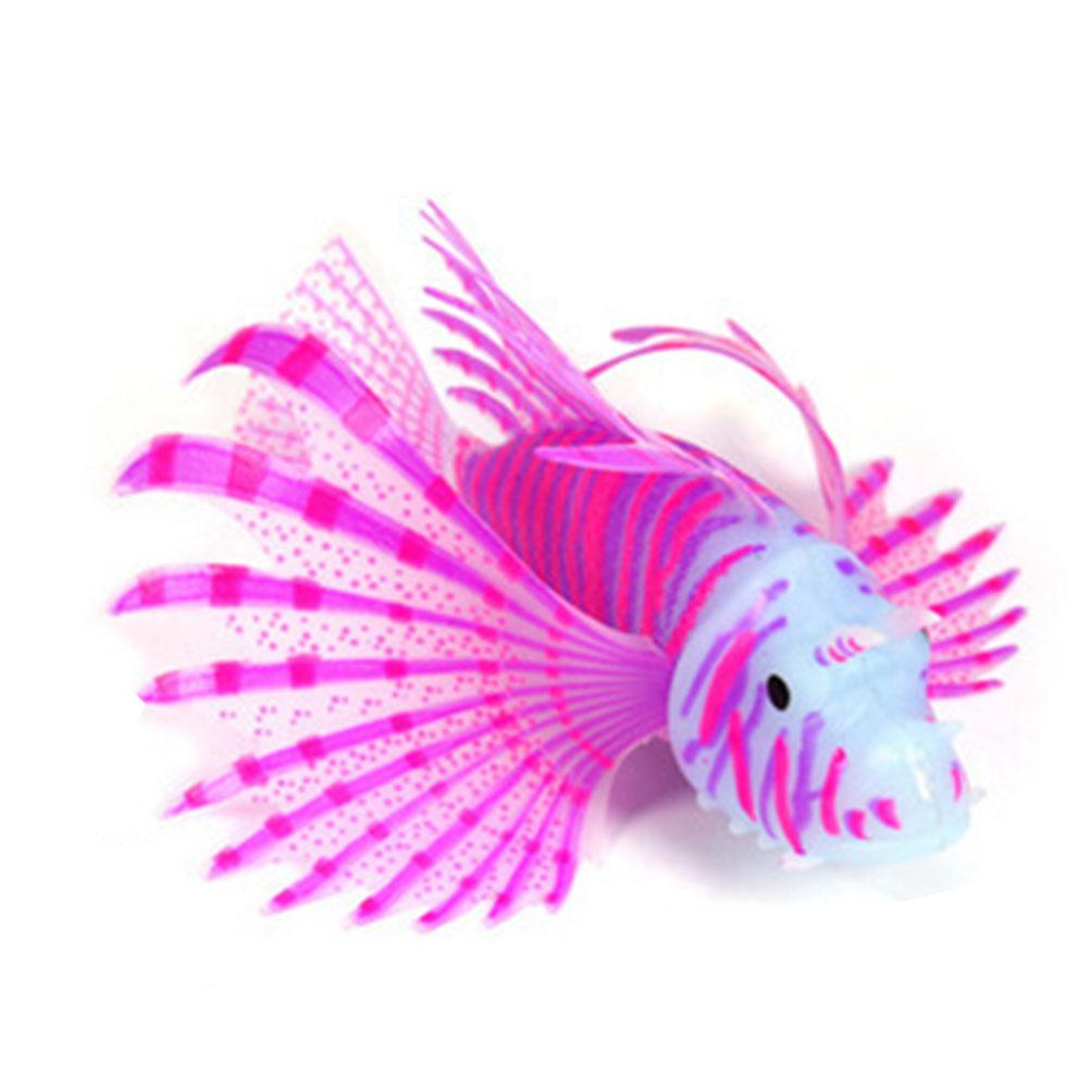 Vivid-Artificial-Lionfish-Sea-Life-Glowing-Fish-Tank-Multicolor-Aquarium-Decor