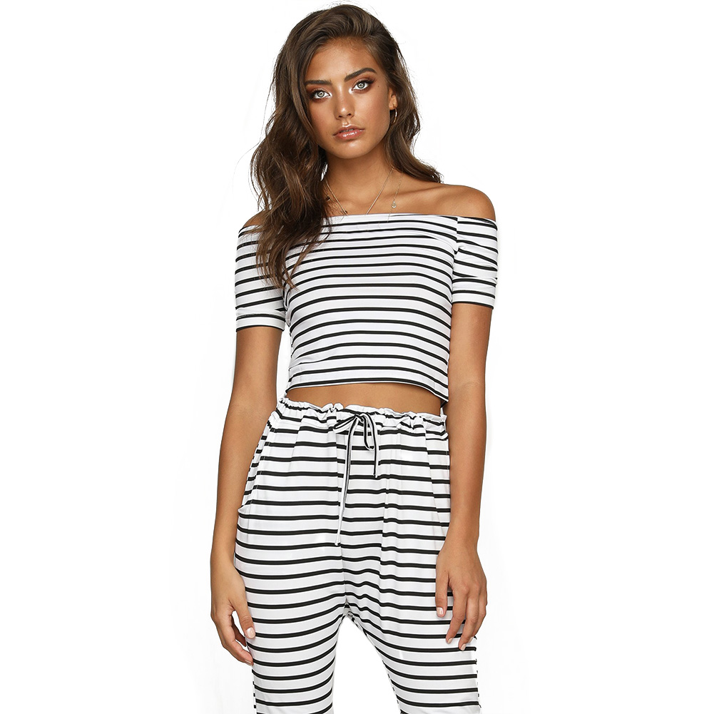 Womens-Off-Shoulder-Women-Outfit-Lace-Up-Outfit-Summer-Fashion-Slim-Suit-Romper