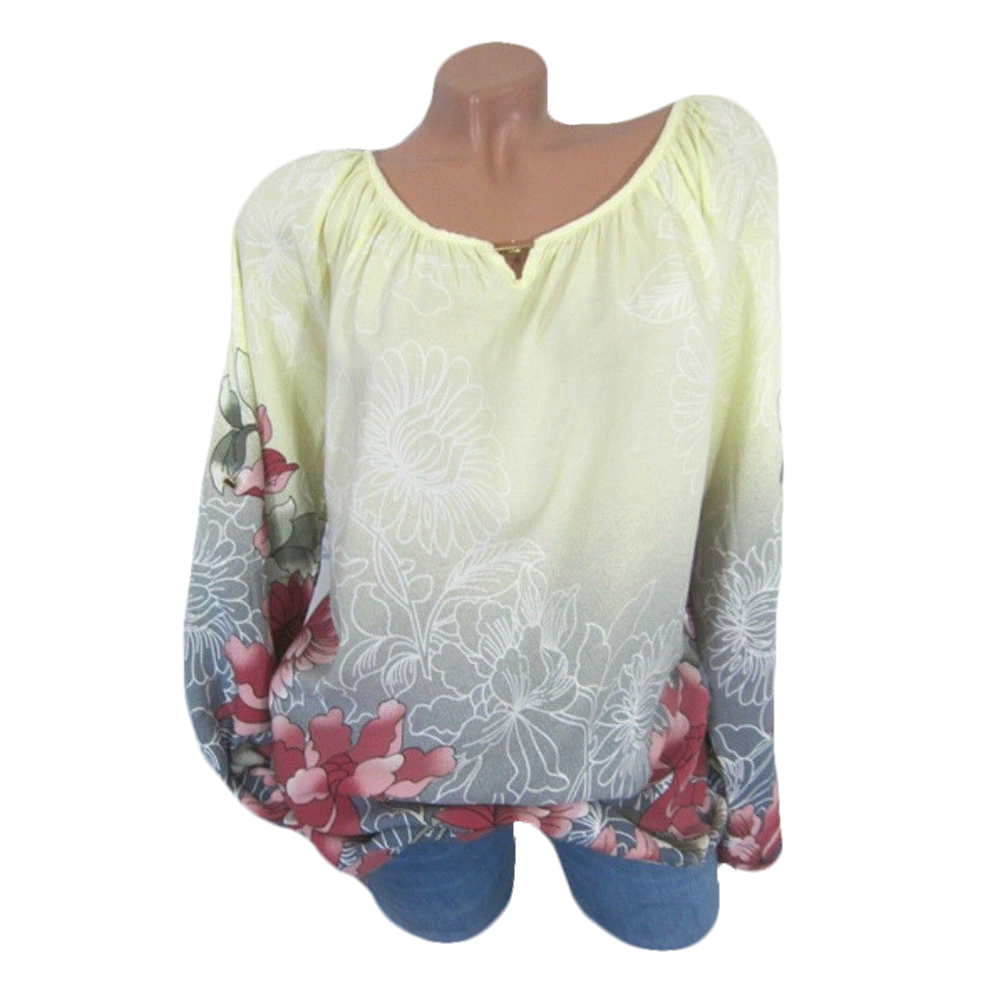 Women-Pullover-Tops-Elegant-Long-Sleeve-Casual-Sexy-Floral-Party-T-shirt-M-XL