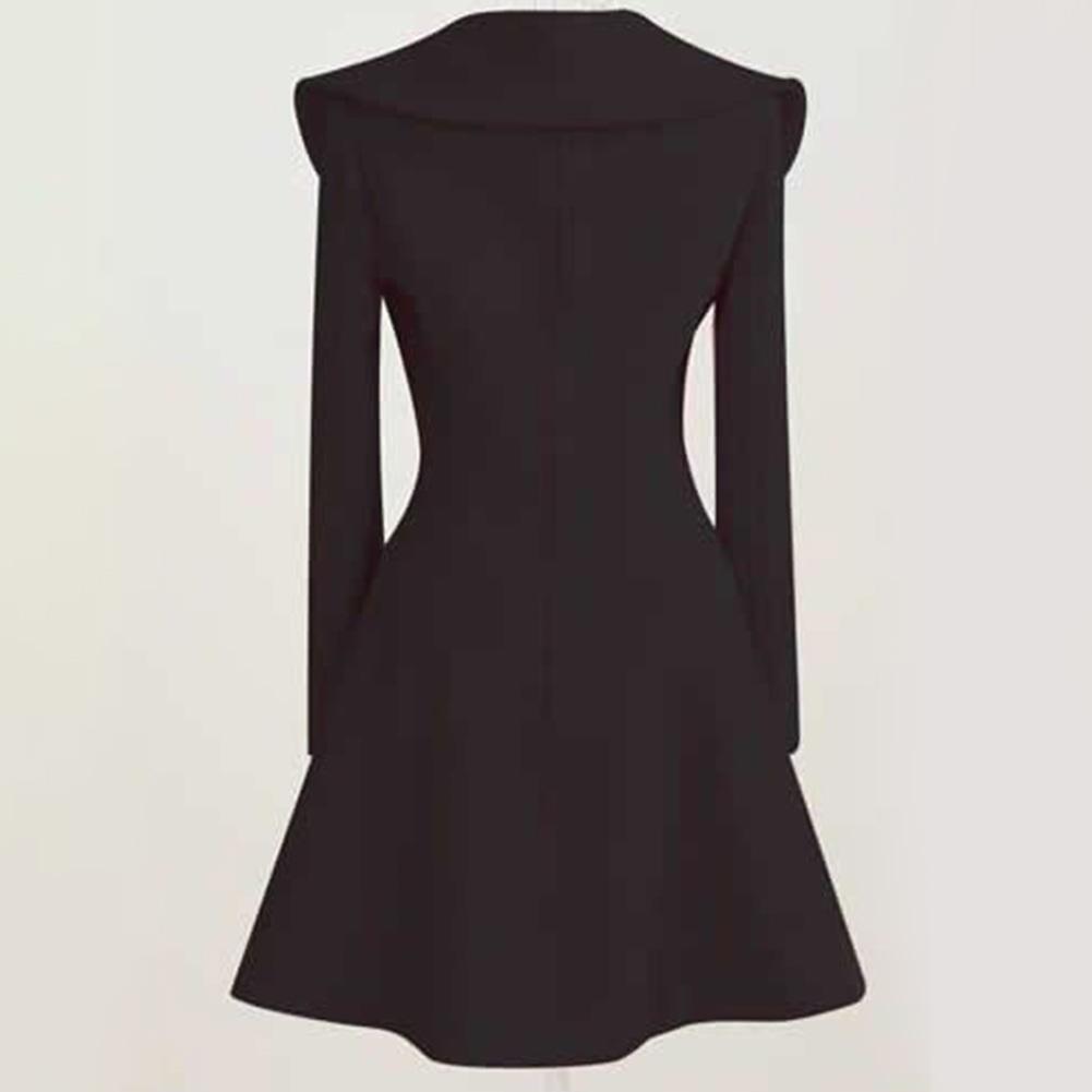 Elegant-Women-039-s-Winter-Warm-Long-Wool-Coat-Button-Jacket-Overcoat-Outwear-Solid