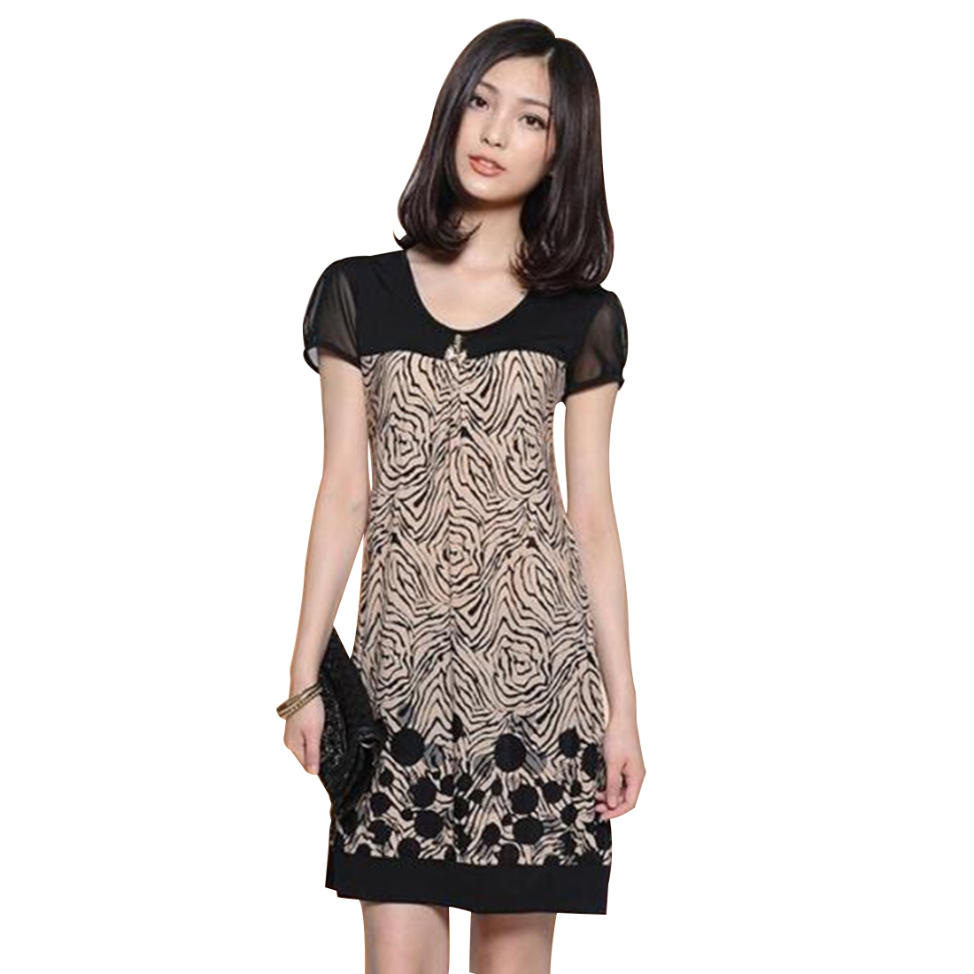 New Women's Lady Summer Casual Short Sleeve Evening Party Cocktail Office Dress