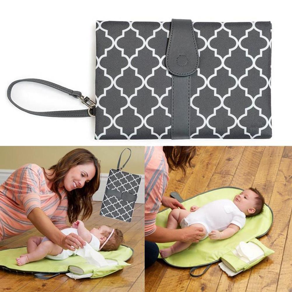 Handbag Toddler Nappy Waterproof Diaper Pad Baby Wallet Style Change Mat Clutch