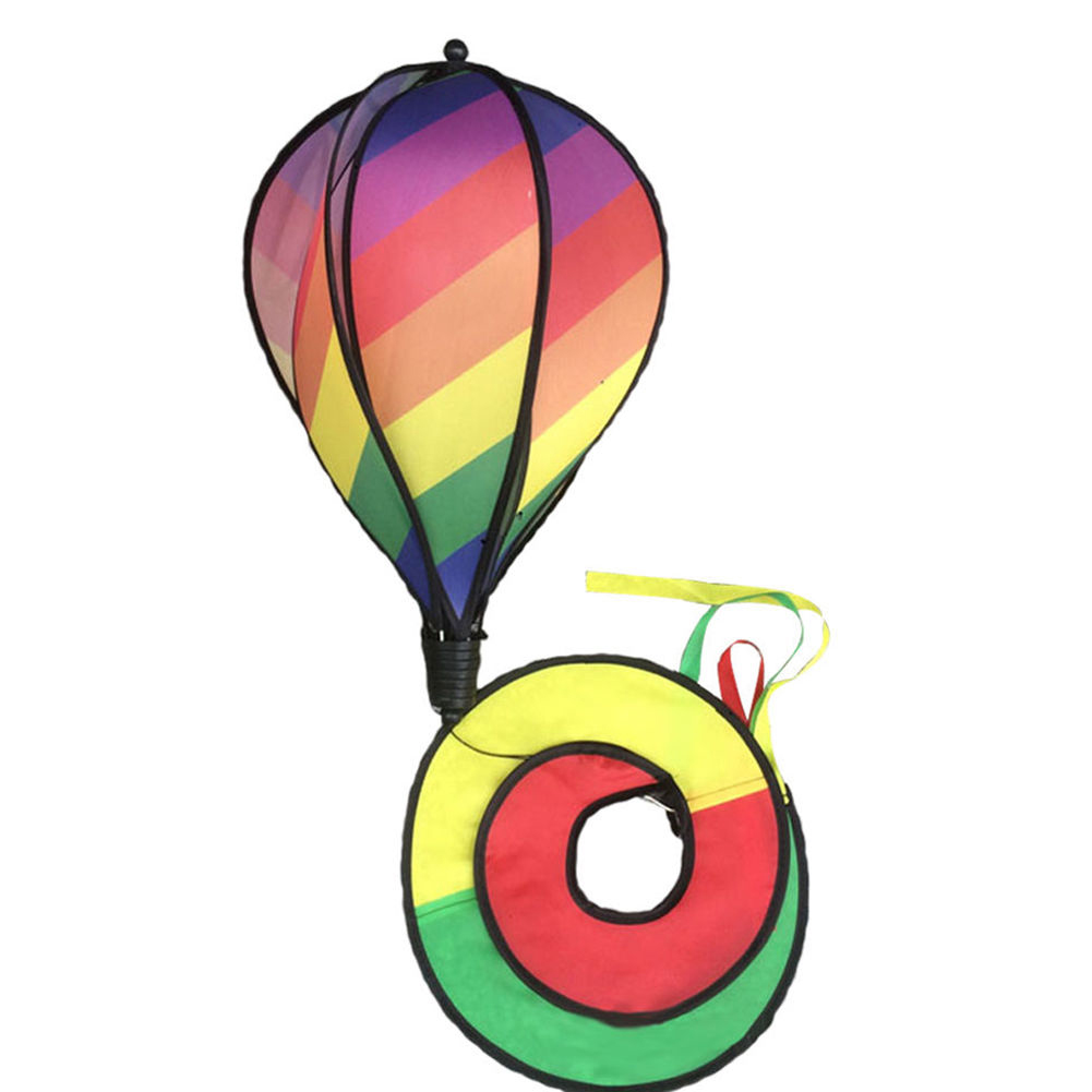 1PC-Windsock-For-Children-Random-Color-Hot-Air-Balloon-Rainbow-Toy-Wind-Spinner thumbnail 6