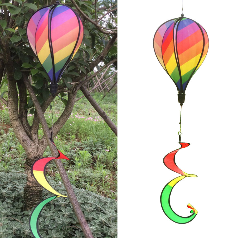 1PC-Windsock-For-Children-Random-Color-Hot-Air-Balloon-Rainbow-Toy-Wind-Spinner thumbnail 4