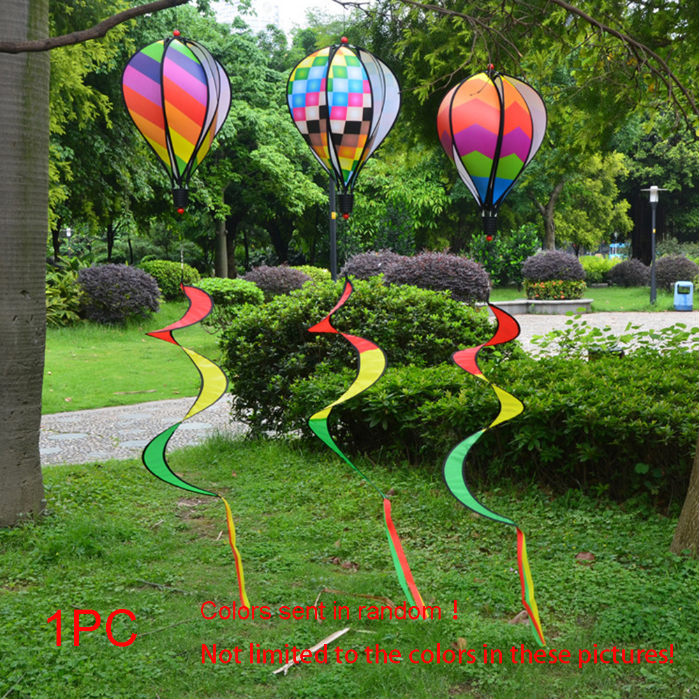 1PC-Windsock-For-Children-Random-Color-Hot-Air-Balloon-Rainbow-Toy-Wind-Spinner thumbnail 8