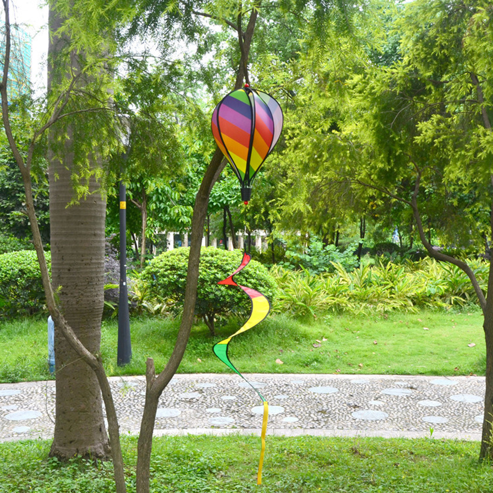1PC-Windsock-For-Children-Random-Color-Hot-Air-Balloon-Rainbow-Toy-Wind-Spinner thumbnail 3