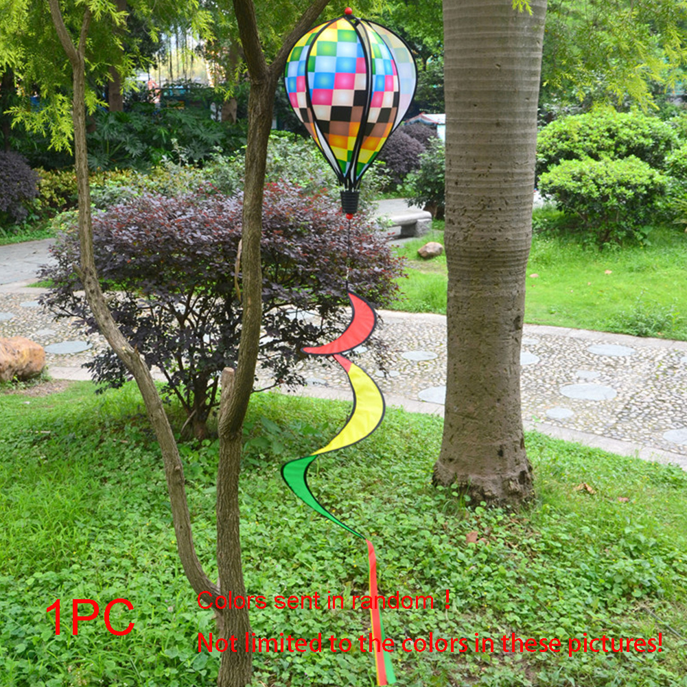 1PC-Windsock-For-Children-Random-Color-Hot-Air-Balloon-Rainbow-Toy-Wind-Spinner thumbnail 10