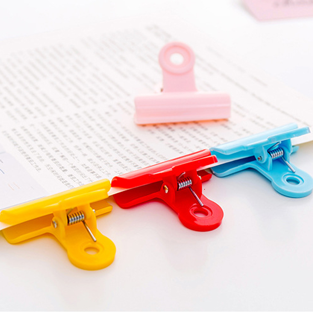 Food-Bag-Plastic-Clamp-Practical-Portable-Tight-Sealing-Durable-File-Papers thumbnail 8