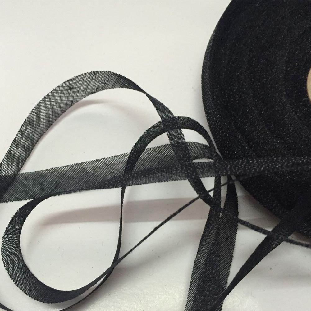 Indexbild 12 - 50M Iron On Webbing Tape Hemming Craft  Lining No Elasticity Lace Trim